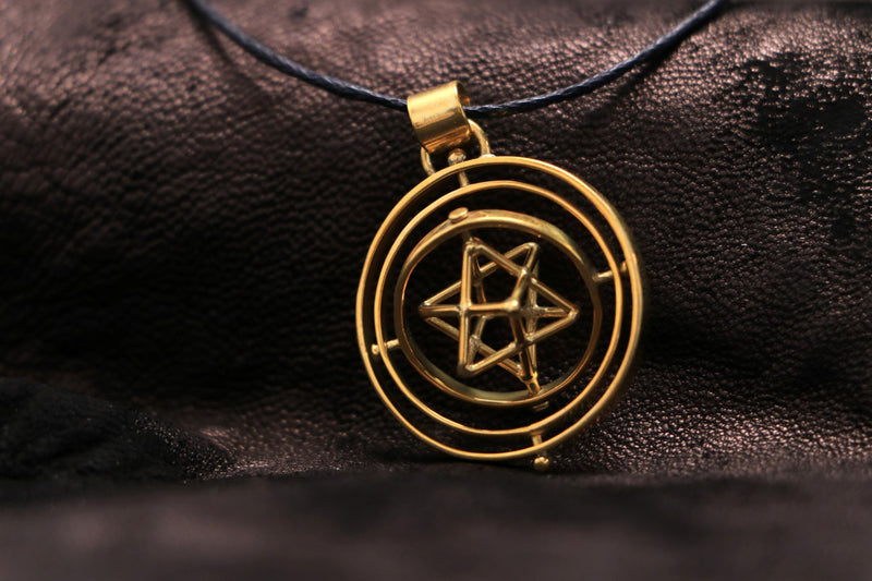 Triple Spin Star Tetrahedron Necklace