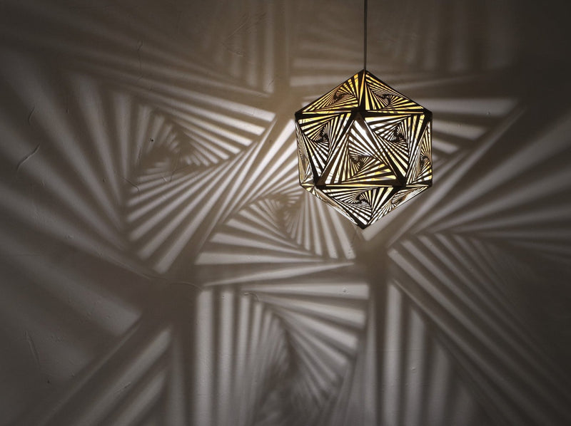 Vortex Pendant Light - Gold