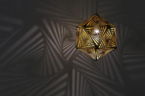 Vortex Pendant Light - Gold - Sample!