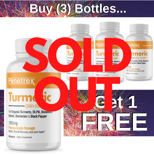 <mark><i>SALE!</i></mark> Turmeric Pain Complex (Pack of 4, 120 Day Supply Total) — Pay for 3, Get