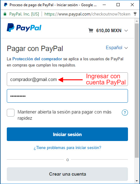 Cuenta PayPal