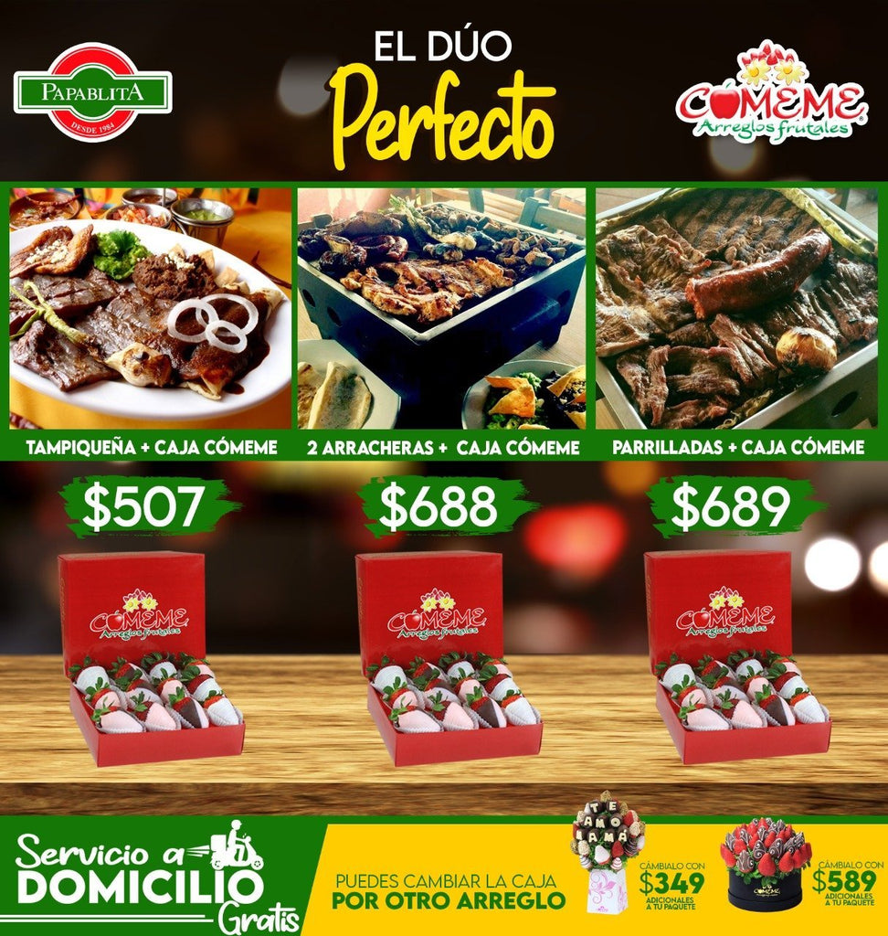 Papablita - 2 Arracheras + Caja cómeme - Comeme