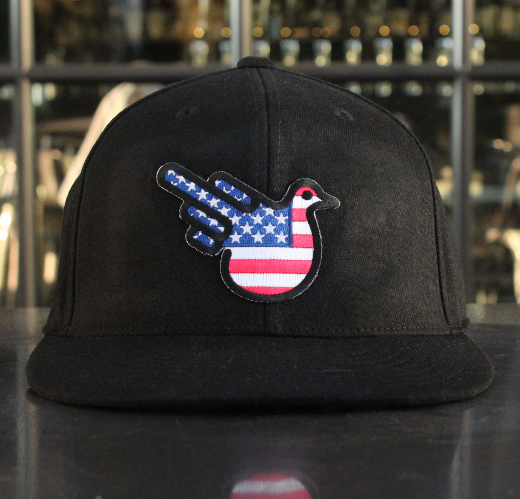 American Fitted Flat Brim Hat