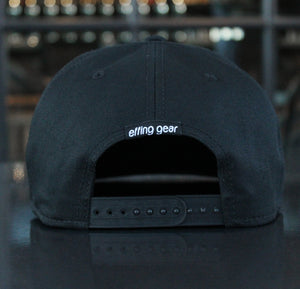 The Snowbird Black and White Flat Bill Snapback Hat