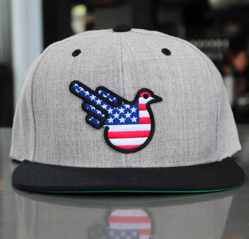 The Freedom American Flag Flat Bill Snapback Hat
