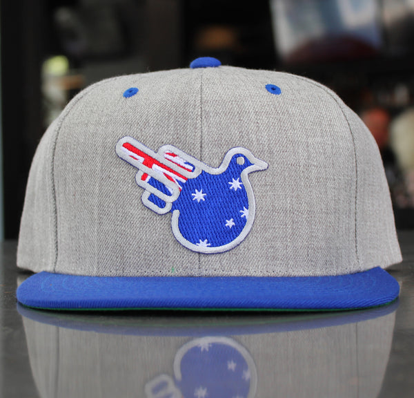 The Nitties Australian Flag Flat Bill Snapback Hat
