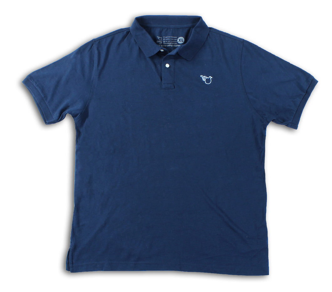 Slub Polo Navy