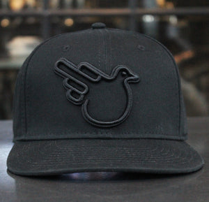 The Timothy Black Flat Brim Snapback Hat