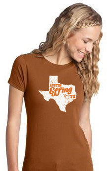 Burnt Orange Austin Effing Texas - Women