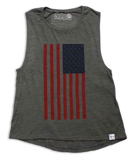 Women's Birds and Stripes Muscle Tank