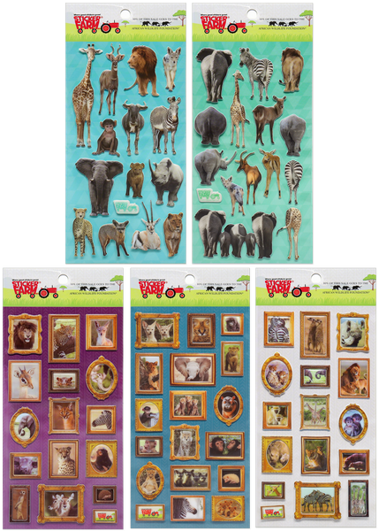 African Wildlife Puffy Sticker Set