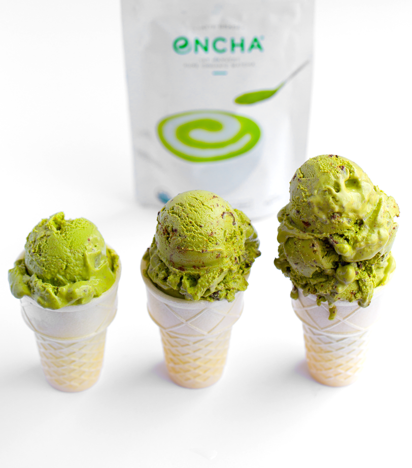 Encha Matcha Mint Chip Ice Cream