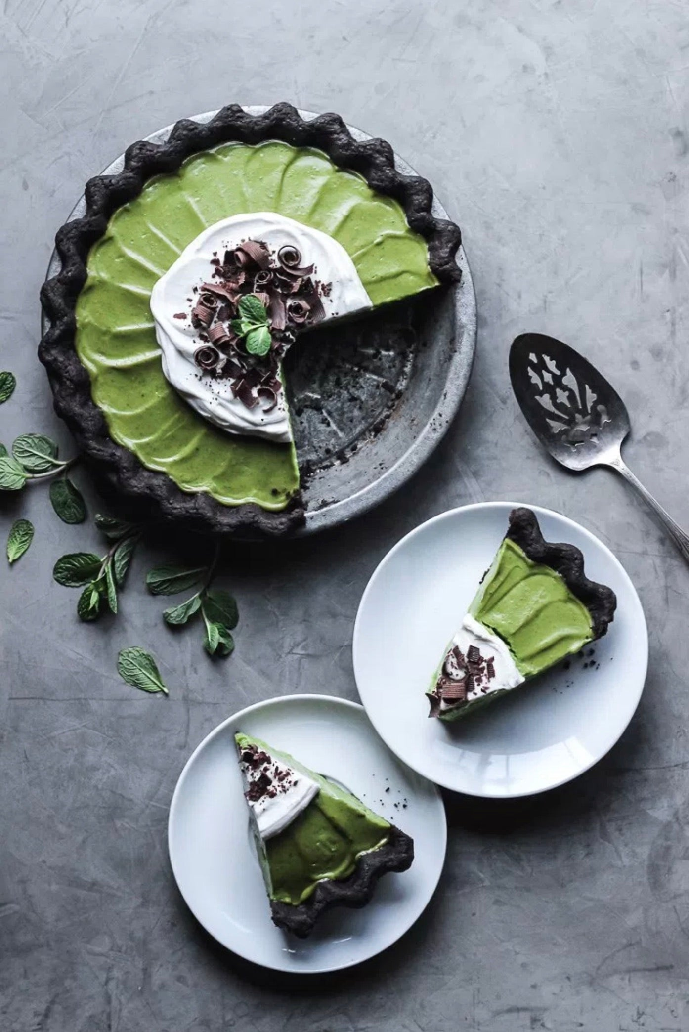 Encha Matcha Mint Grasshopper Pie