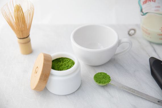 How to make matcha latte step 1