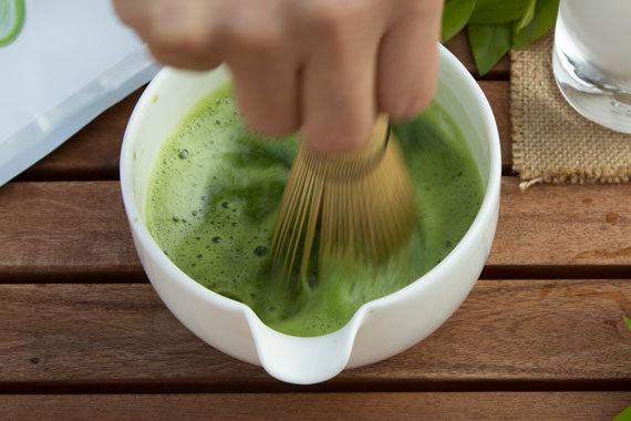 How to make iced matcha latte step 3