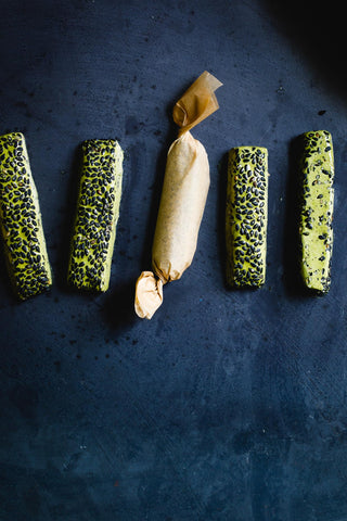 Encha Matcha Black Sesame Nougat Chews