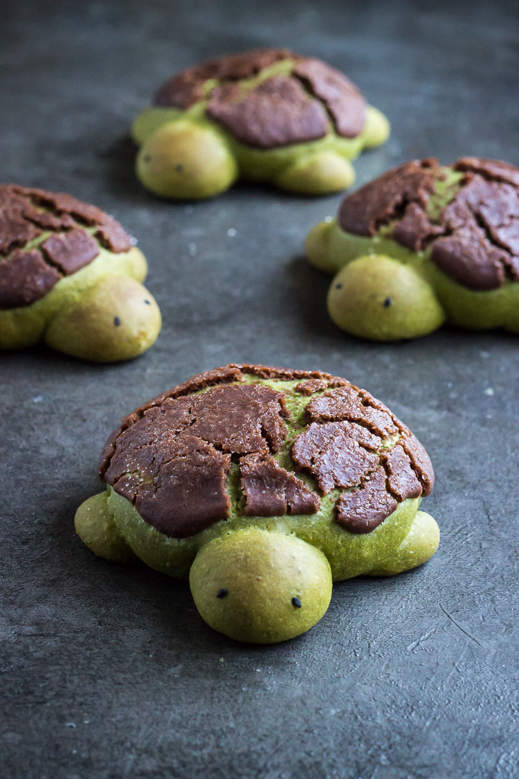Encha Matcha Milk Bread Turtles