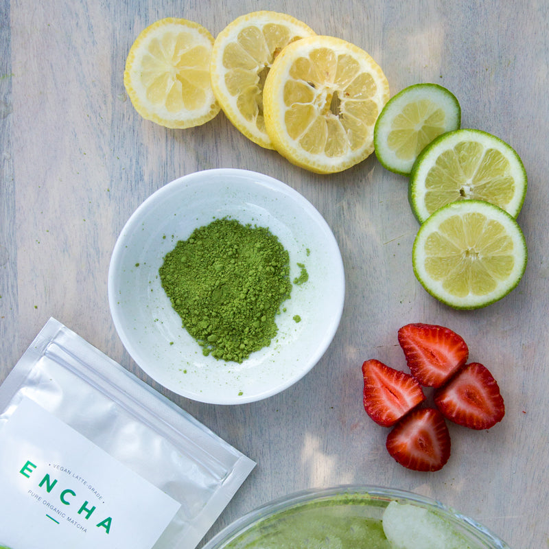 Matcha powder Encha lemon lime strawberry recipe