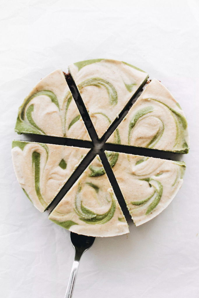 Encha Matcha No-Bake Vegan Cheesecake
