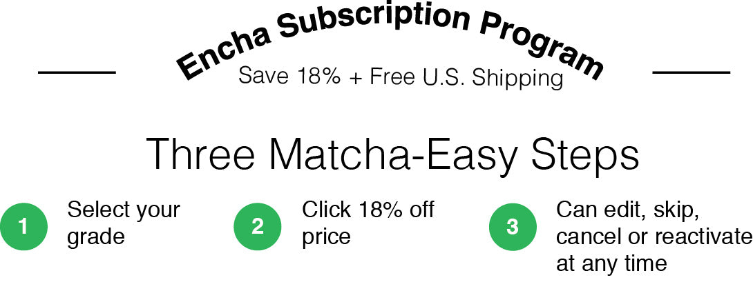 Encha matcha subscription program