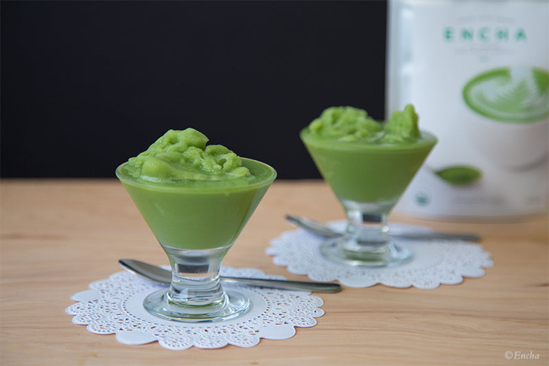 Green tea frappuccino organic coconut matcha with vegan latte-grade Encha Organic Matcha
