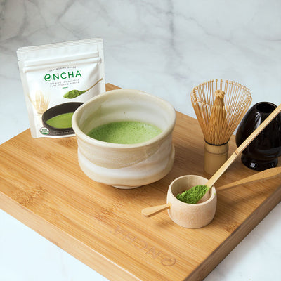 Encha matcha tea set with Serenity chawan