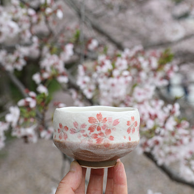 Cherry blossom matcha cup mini chawan by Encha