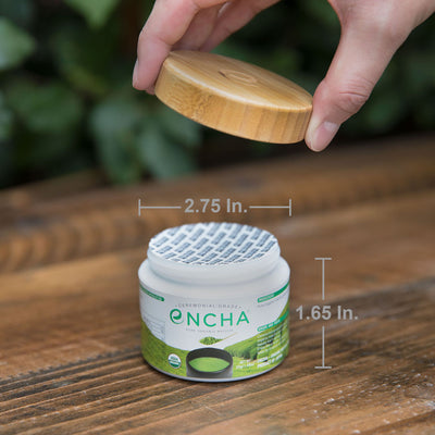Encha matcha glass jar dimension