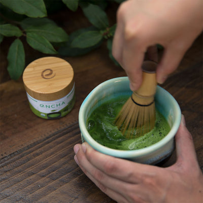 Whisk organic matcha tea Encha in chawan
