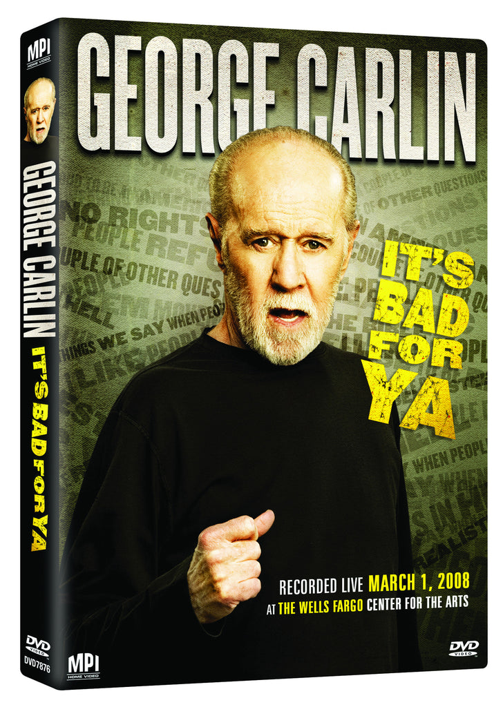 George Carlin: It's Bad for Ya' - Box Art