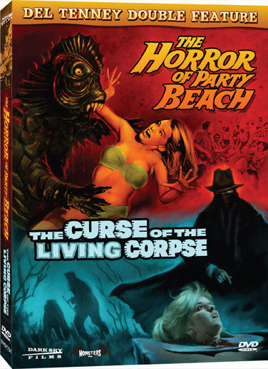 Del Tenney Double Feature: Curse of the Living Corpse and The Horror of Party Beach - Box Art
