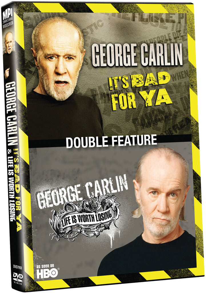 George Carlin Double Feature: It's Bad for Ya, Life is Worth Losing - Box Art