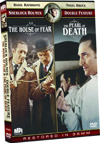 Sherlock Holmes Double Feature: The House of Fear and The Pearl of Death - Box Art