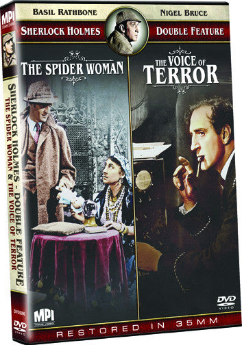 Sherlock Holmes Double Feature: The Spider Woman and The Voice of Terror - Box Art