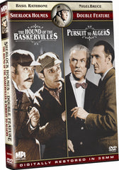 Sherlock Holmes Double Feature: The Hound of the Baskervilles and Pursuit to Algiers - Box Art