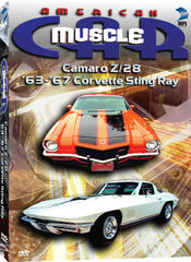 American Muscle Car: '63-'67 Corvette Sting Ray, Camaro Z28 - Box Art