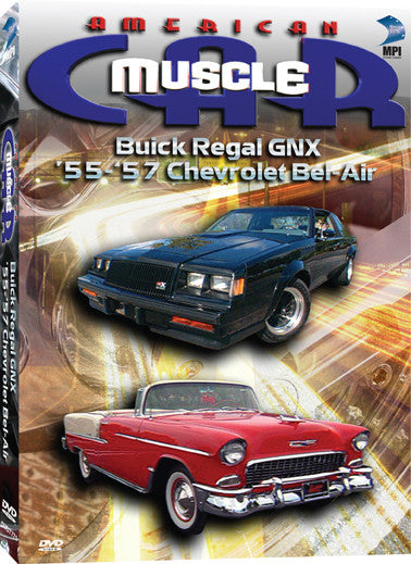 American Muscle Car: Buick Regal GNX, '55-'57 Chevrolet Bel Air - Box Art
