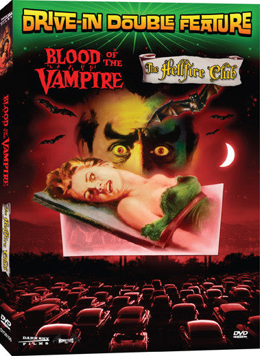 Drive-In Double Feature: Blood of the Vampire / The Hellfire Club - Box Art