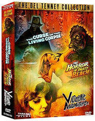 Del Tenney Triple Feature: Horror of Party Beach / Curse of the Living Corpse / Violent Midnight - Box Art