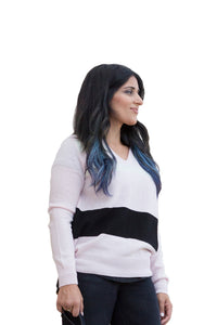 Women's Cashmere Colorblock Sweater