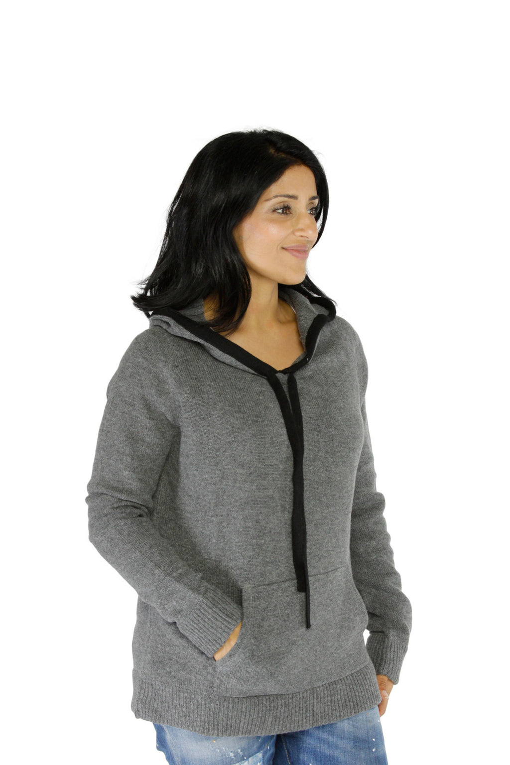 Unisex Cashmere Hoodie Sweater
