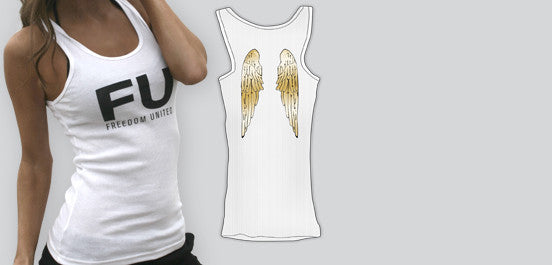FU OG GOLD ANGEL WINGS TANK