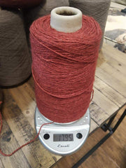 Random Cones of Bison yarns The Buffalo Wool Co. #1 Red Prairie (Bison/silk) DK weight 1lb 1500 yards approx