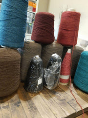 Random Cones of Bison yarns The Buffalo Wool Co.