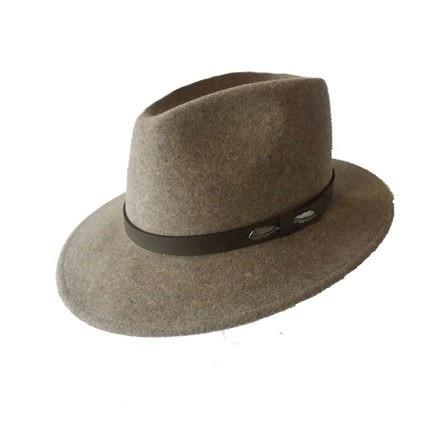 "The ""Outback"" in Natural - Adventurer's Fedora Bison Gear The Buffalo Wool Co. Small"