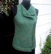 Prairie Leaf Vest - PDF knitting pattern Patterns & Kits The Buffalo Wool Co.
