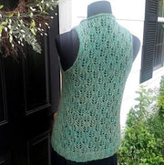 Prairie Leaf Vest - PDF knitting pattern