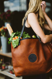 Bison Leather Market Tote Bag Duluth Pack