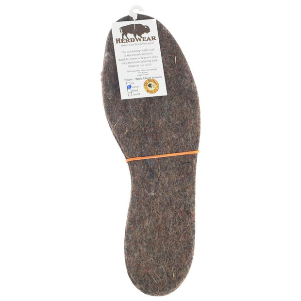 Bison/Wool Insoles Bison Footwear The Buffalo Wool Co. Mens Large