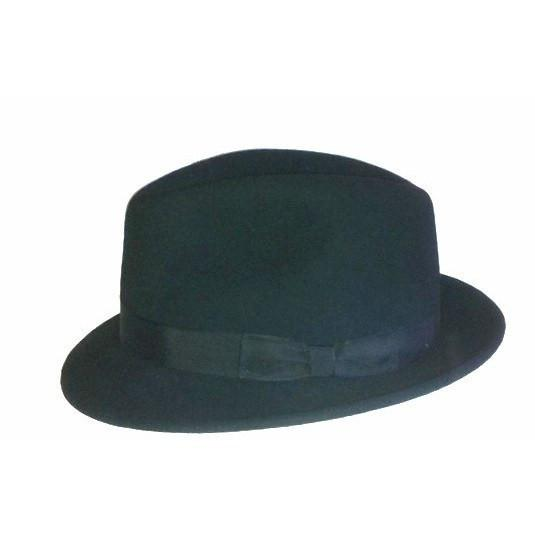 Buffalo Wool Co. Fedora in Black Bison Gear The Buffalo Wool Co. Medium